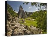 The Great Plaza at Tikal Archeological Site