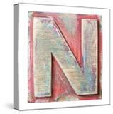 Wooden Alphabet Block  Letter N