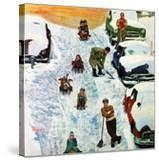 """""""Sledding and Digging Out """" January 28  1961"""