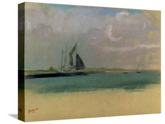 edgar-degas-fishing-boats-moored-in-the-harbour-c-1869