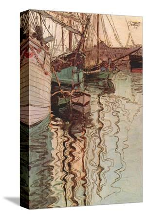 egon-schiele-sailboats-in-wollenbewegten-water
