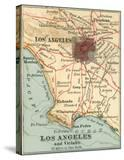 Los Angeles and Vicinity (C 1900)  from the 10th Edition of Encyclopaedia Britannica  Maps