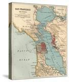 Map of the San Francisco Bay Area (C 1900)  Maps
