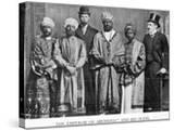 The Emperor of Abyssinia and His Suite'  the Dreadnought Hoax  7th February 1910 (B/W Photo)