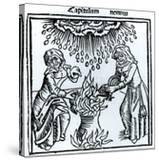 Witches Making a Spell  1489 (Engraving) (B&W Photo)
