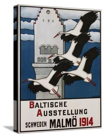 ernst-norlind-baltische-ausstellung-schweden-malmo-travel-poster