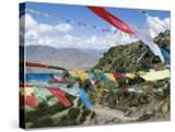 Prayer Flags  Ganden Monastery  Near Lhasa  Tibet  China