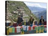 Selling Prayer Flags  Ganden Monastery  Near Lhasa  Tibet  China