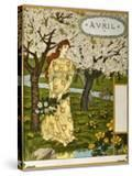 April  Illustration from the Fine Art Portofolio 'Le Mois'  1896