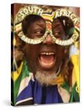 Fan Celebrates in Durban  South Africa During 100-Day Count Down Celebrations to the Fifa World Cup