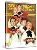 """Choir Boys Will Be Boys "" Saturday Evening Post Cover  December 10  1938"