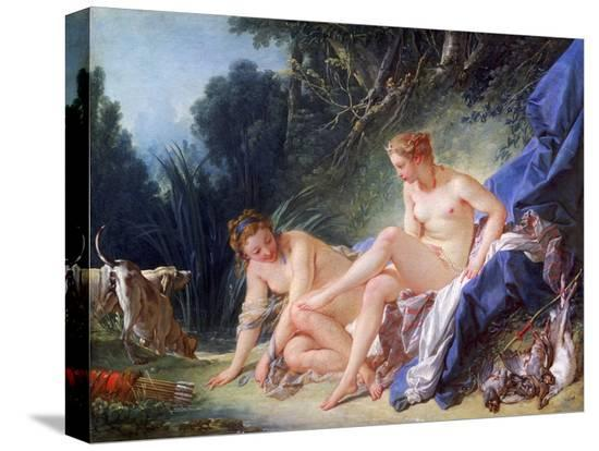 francois-boucher-diana-getting-out-of-her-bath-1742