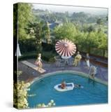 1959: a Family at their Backyard Swimming Pool