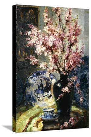 frans-mortelmans-apple-blossoms-and-blue-and-white-porcelain-on-a-table