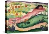 Nude Lying in the Flowers  1910
