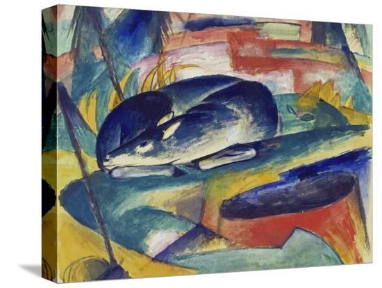 franz-marc-sleeping-deer-1912-13