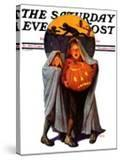 """Halloween Scare "" Saturday Evening Post Cover  November 2  1935"