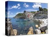 Clifftop Village of Riomaggiore  Cinque Terre  UNESCO World Heritage Site  Liguria  Italy  Europe