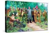 Wall Mural of Kim Il Sung  Pyongyang  Democratic People's Republic of Korea  N Korea