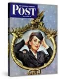 """""""Red Cross Volunteer """" Saturday Evening Post Cover  March 13  1943"""