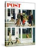 """""""Puppy Sellout """" Saturday Evening Post Cover  April 30  1960"""
