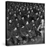 Marlene Dietrich with Back Turned on Audience of Servicemen during Her Mental Telepathy Act