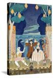 """Pantomime Stage  Illustration for """"Fetes Galantes"""" by Paul Verlaine 1924"""