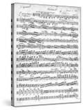 Sheet Music for the Overture to 'Egmont' by Ludwig Van Beethoven  Written Between 1809-10 (Print)