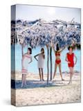 June 1956: Girls Modeling Beach Fashions in Cuba