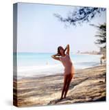 June 1956: Woman Modeling Beach Fashions in Cuba