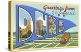 Greetings from Duke University  North Carolina