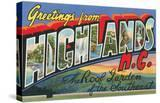 Greetings from Highlands  North Carolina