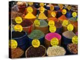 Teas and Spices at Spice Bazaar  Istanbul  Turkey