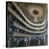 Auditorium in the Old Burgtheater  Vienna  1888