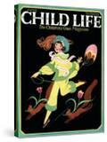 Dancing Girl with Squirrels - Child Life  June 1925