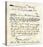 Henry Bigler's Diary Entry Marking James Marshall's Gold Discovery at Sutter's Mill  c1848
