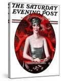 """Majong "" Saturday Evening Post Cover  January 5  1924"