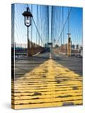 Historical Landmark of Brooklyn Bridge in New York City  New York