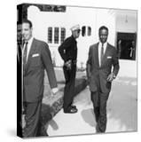 Nat King Cole Attends the Funeral of Comedian Eddie Anderson's Wife Mamie  August 1954