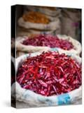 Dried Red Chillies at Spice Market