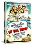 In the Navy  Dick Powell  the Andrews Sisters  Bud Abbott  Lou Costello on Midget Window Card  1941