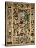 Historiated Initial 'B' Depicting King David Playing a Viola (Vellum)