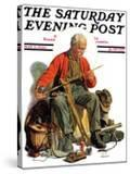 """Going Fishing "" Saturday Evening Post Cover  May 3  1930"