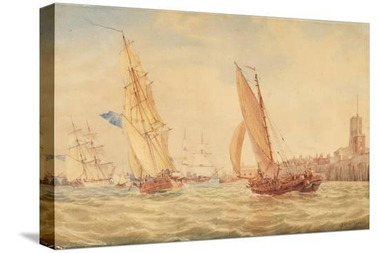 j-m-w-turner-three-sloops-of-war-and-a-fishing-smack-going-into-habour-portsmouth-c-1800-30