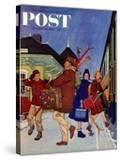 """Wrong Week at the Ski Resort "" Saturday Evening Post Cover  January 14  1961"