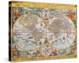 Antique Map  Orbis Terrarum  1636