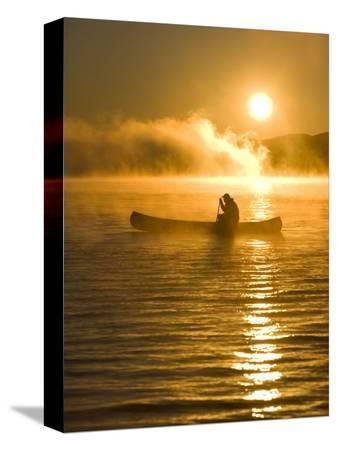 jerry-marcy-monkman-canoeing-at-sunrise-moosehead-lake-maine-usa