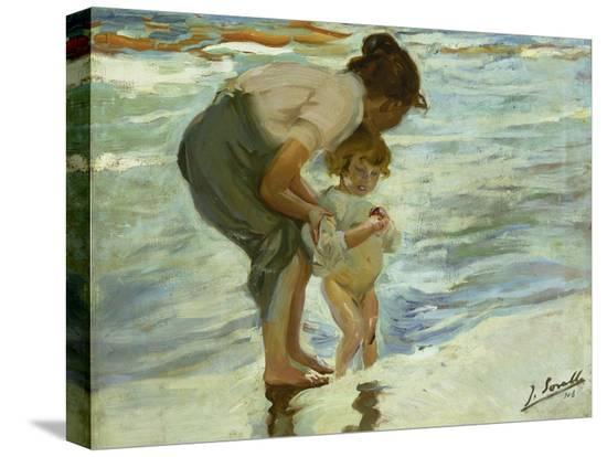 joaquin-sorolla-mother-and-child-at-the-beach-1908