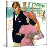 """The Strategy of Love - Saturday Evening Post """"Men at the Top""""  September 28  1957 pg32"""