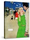 "Fugitive From Romance - Saturday Evening Post ""Leading Ladies""  April 6  1957 pg35"